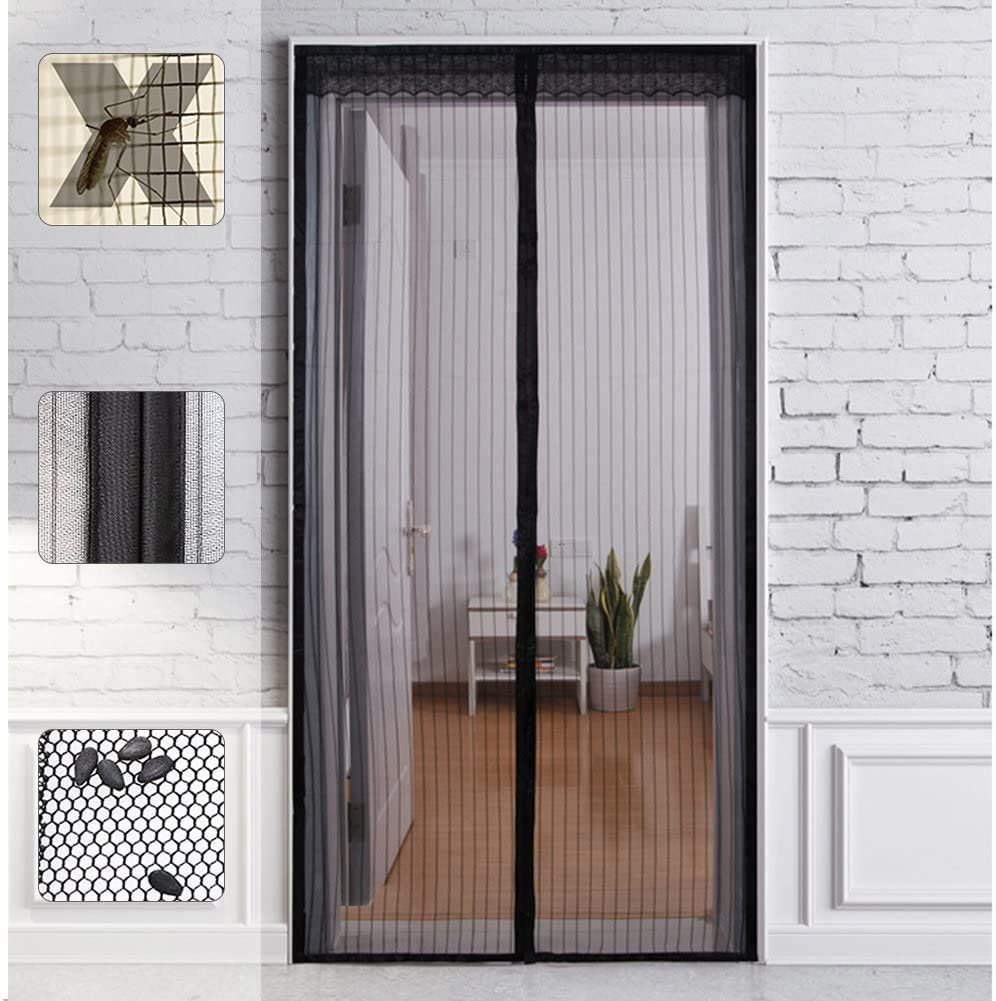 Outry Magnetic Screen Door Hands Free Close Screen Door with Wide Full Frame Hook /& Loop 38 X 84 Fits Door up to 38x84 Durable Heavy Duty Mesh Curtain with Fly Mosquito Screens