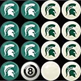 Imperial Officially Licensed NCAA Merchandise: Home vs. Away Billiard/Pool Balls, Complete 16 Ball Set, Michigan State Spartans