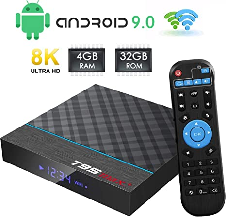 TUREWELL Android Box, T95 MAX+ Android 9.0 TV Box Amlogic S905X3 Quad-Core cortex-A55 4GB RAM 32GB ROM Media Player with 8K BT4.0 2.4G/5.0GHz Dual-Band WiFi: Amazon.es: Informática