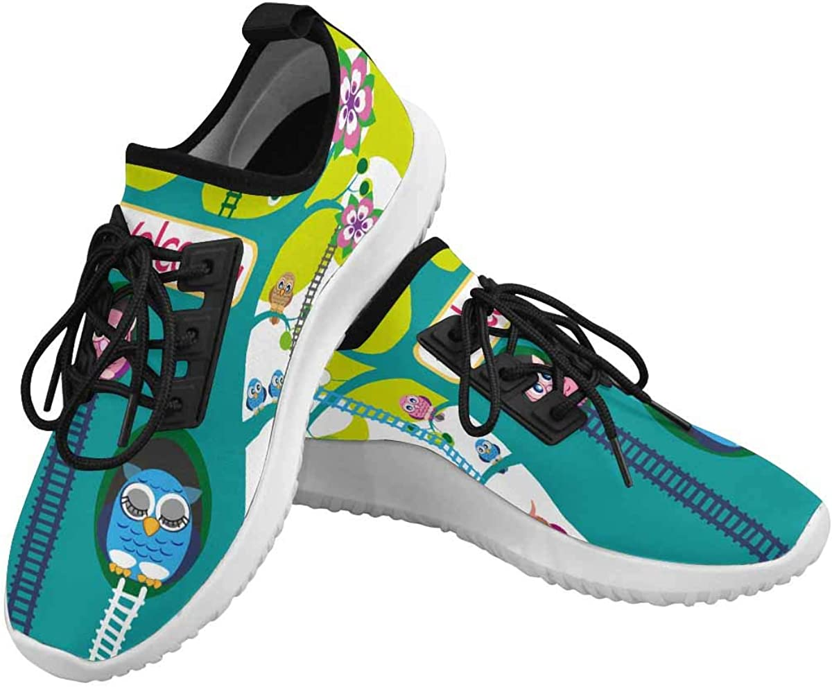 INTERESTPRINT Dolphin Ultra Athletic Trainer Womens Running Shoes Owl Birthday