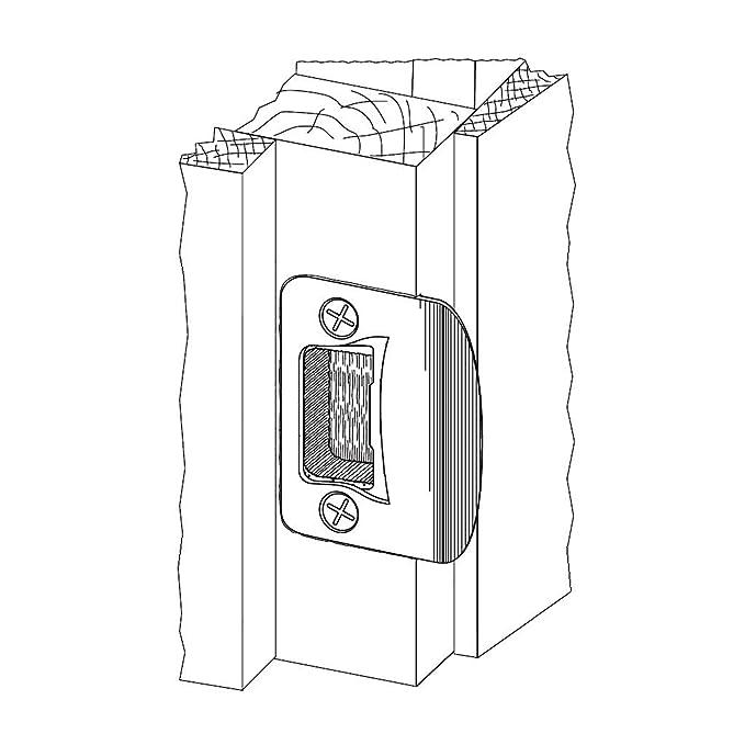 Gator - Restaurador de pestillo de puerta placa de la huelga: Amazon ...