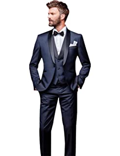 UMISS Herren Plaid Revers Anzug Jacke Weste /& Hose 3-teiliges Anzugset