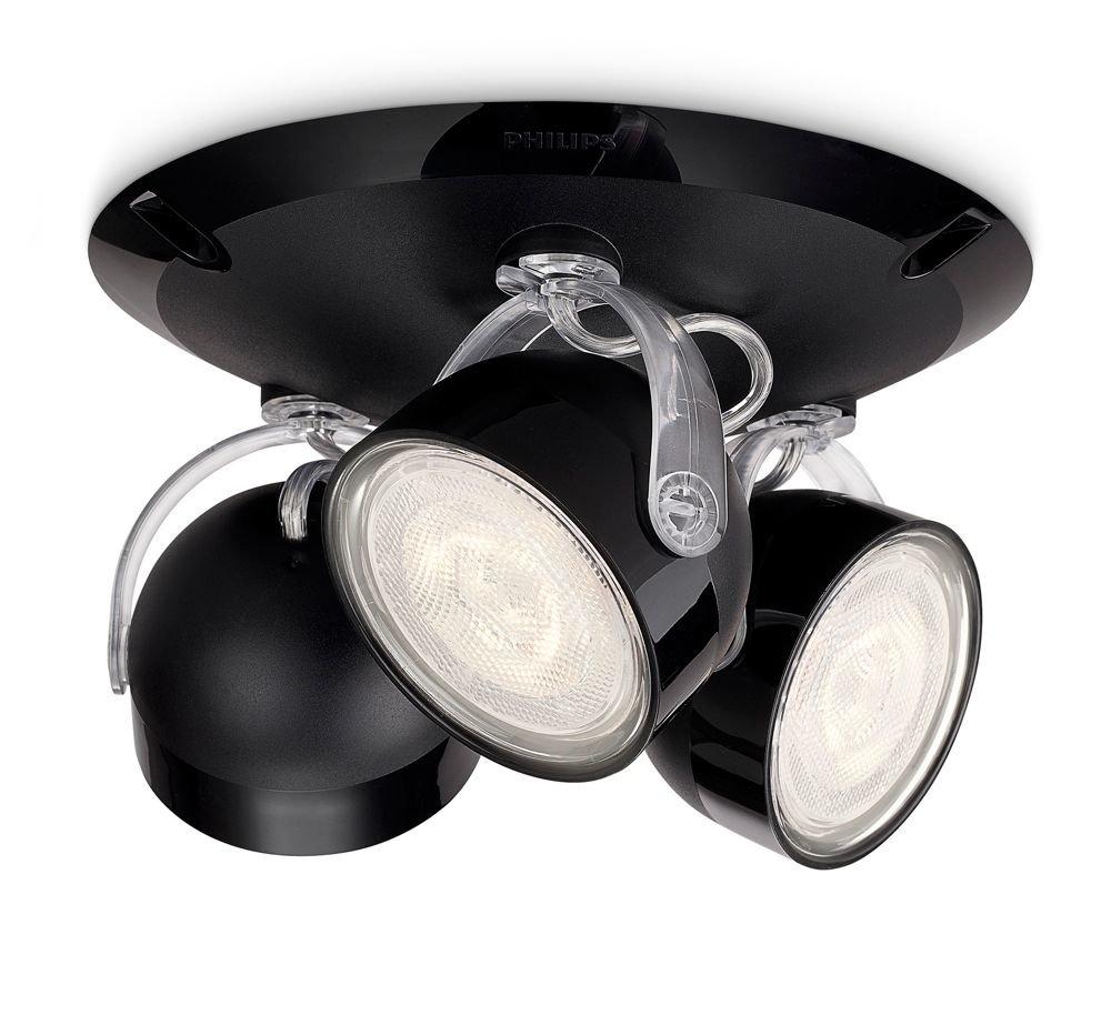 Philips 532343016 dyna lampada con 4 faretti a led nero for Faretti a risparmio energetico