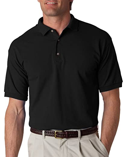 ca64c11a4d7 Amazon.com: Gildan mens Ultra Cotton 6 oz. Jersey Polo(G280)-BLACK ...