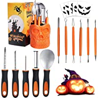 BENERAY 11-Piece Stainless Steel As a Carving Set for Pumpkin Halloween Decoration Kit