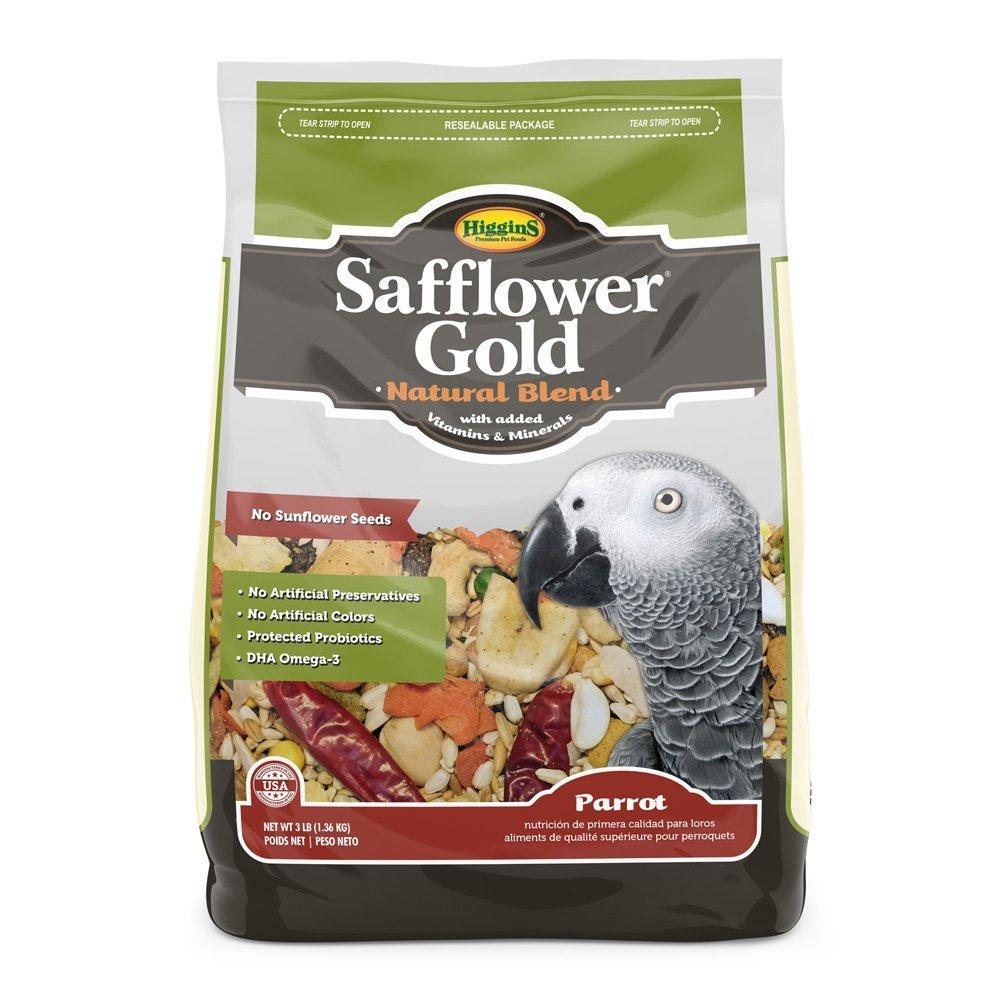 Higgins Safflower gold Natural Food Mix for Parreds 3lbs by Higgins