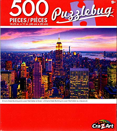 Cra-Z-Art Empire State Bulding and Lower Manhattan at Dusk - 500 Piece Jigsaw Puzzle ()