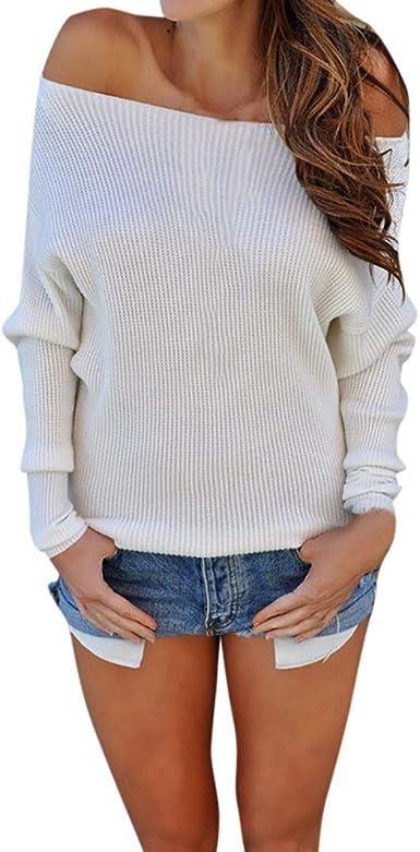 Youngii - Camisas - Túnica - Animal Print - Redondo - para Mujer Blanco L: Amazon.es: Ropa y accesorios
