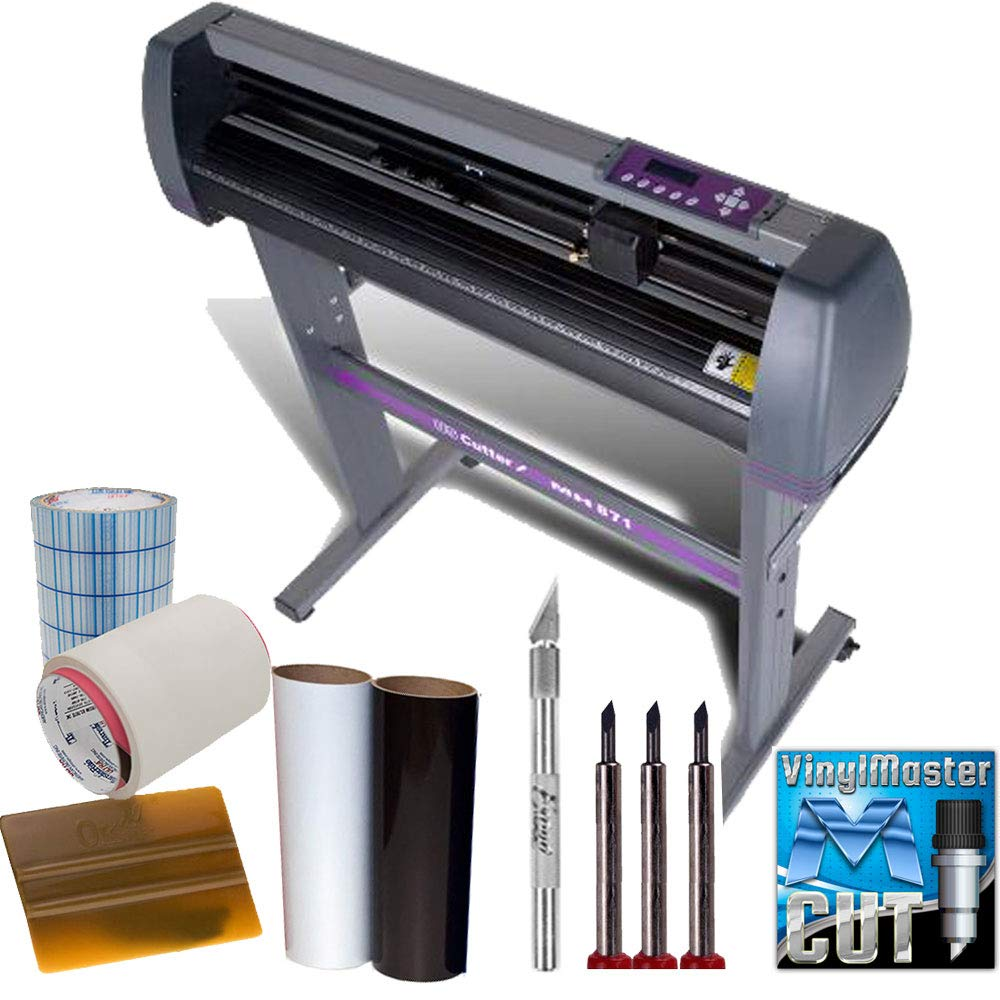 28-inch Vinyl Cutter Value Sign Making Bundle with Design and Cut Software - Cutting Signs, Stickers by USCutter