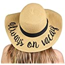 H-2017-AOV Embroidered Sun Hat - Always On Vacay