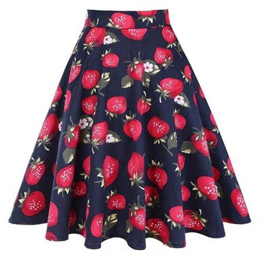QZBTU Faldas Mujer Mini Faldas Diarias De Pinup, Cintura Alta ...