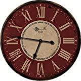 Nora Lane, LLC Red Large Wall Clock - Oversized Wall Clocks or Decorative Wall Clock