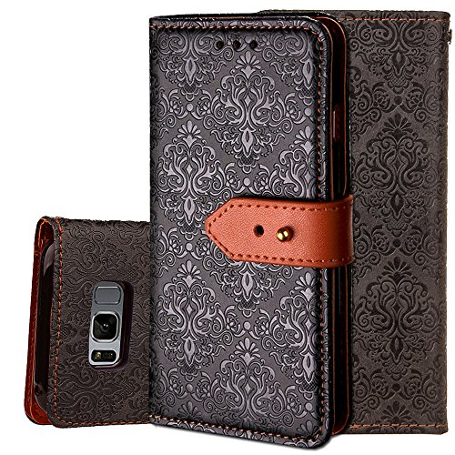 Click to buy Samsung Galaxy S6 Wallet Case, Vodico Slim Fit Wrist Strap Credit Card Holder PU Leather Flip Folio Full Body Protective Case Cover with Card Slots & Kickstand for Galaxy S6 2015 (Black) - From only $195.57