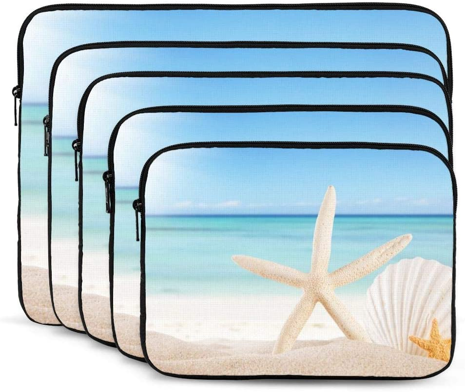Beach Starfish Laptop Sleeve 12 inch, Shock Resistant Notebook Briefcase, Computer Protective Bag, Tablet Carrying Case for MacBook Pro/MacBook Air/Asus/Dell/Lenovo/Hp/Samsung/Sony