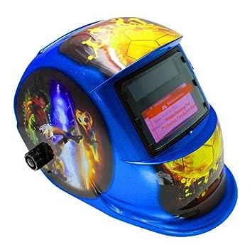 LAIABOR Solar Máscara Soldadura Eléctrica Oscurecimiento Soldador Protección Automática Atenuación Eléctrica Soldadura Máscara Tapa De Soldadura Cara ...