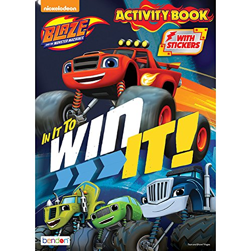 Blaze and the Monster Machines In It To Win It Coloring and Activity Book - Includes Over 30 Stickers