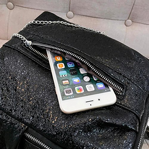 Shoulder Shinning Travel Satchel Sequins Bag Fashion Glitter Euone Black Backpack Backpack Bling School Pink Bags Bag Ladies Women's tUArUq