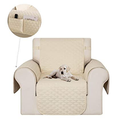 Remarkable Deconovo Pet Sofa Slipcover Microfiber Couch Covers Soft And Rhombic Quilted Armchair Sofa Slipcover For Pets Kids Beige Machost Co Dining Chair Design Ideas Machostcouk