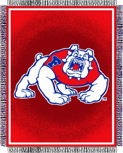 Fresno State Jacquard Woven Throw Blanket Bulldogs Triple Woven Throw