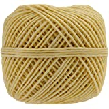 Homankit Beeswax Hemp Candle Wick, 200ft Spool Pre Bees waxed Candle Wicks  Candle wicks Coated With 100% Natural BeesWax for Candle Making / Candle DIY