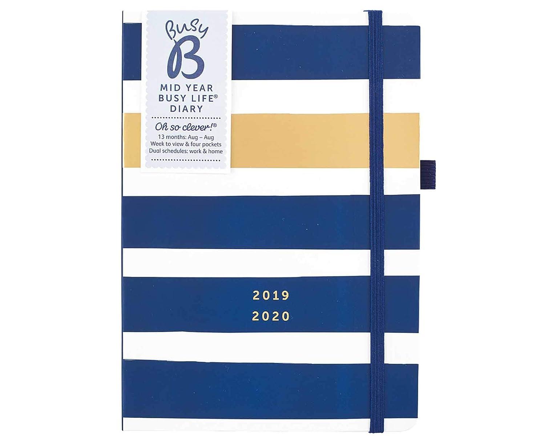 Agenda 2019-20 mediados de año Busy B (pretty) - con horarios y bolsillos dobles