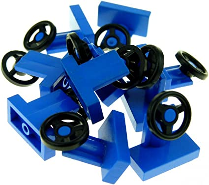 Lego 10 x Blue Steering Wheels