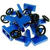 10 NEW LEGO Vehicle Steering Stand 1 x 2 Black Steering Wheel Light Bluish Gray