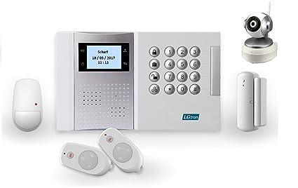 lgtron GSM Radio Alarma lgd8003 con 868 MHz Radio de seguridad Frecuencia de banda (llamada/SMS), ...