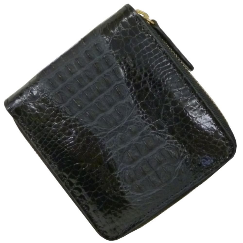 [サンタマリア] SantaMaria クロコダイル 財布 メンズ 二つ折り ラウンドファスナー 背鰐HB B06Y3Z8D6J
