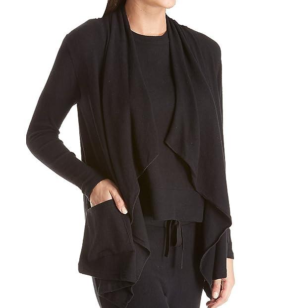 Amazon.com: La cera comodidad cascada chaqueta de punto ...