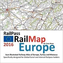 Map Europe 2016.Railpass Railmap Europe 2016 Icon Illustrated Railway Atlas Of