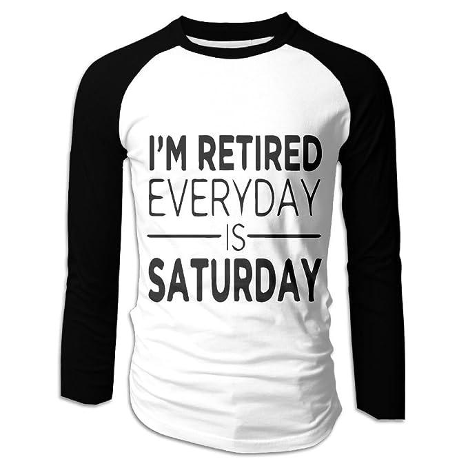 cb6243ea Amazon.com: DJF24K@YF Men's T-Shirt, Fashion I'm Retired Every Day ...