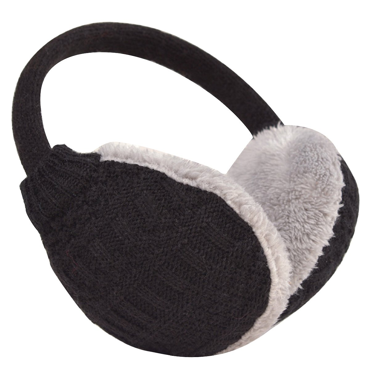 Butterme Unisex Knit pieghevole paraorecchie della peluche velluto Cuffie Accessori esterno di inverno dei paraorecchie per uomini e donne