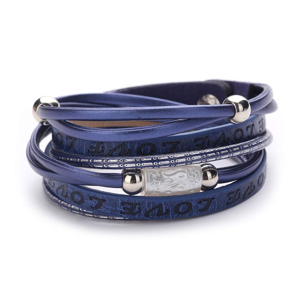 Women Handmade Weaving Beads Cord Stretch Protection Charm Bracelets Gift for Girls Mens Teens Student Best Friend Forever(G)