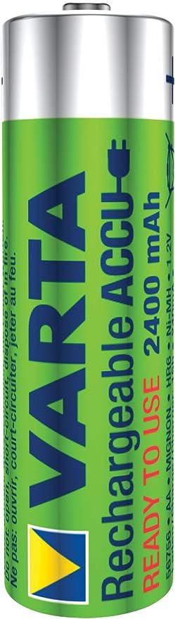 Amazon.com: Varta Batería R2U NiMH AA/LR6 1.2 V 2400 mAh 4 ...