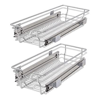 Amazon.com: vidaXL 2X Pull-Out Wire Basket 11.8\