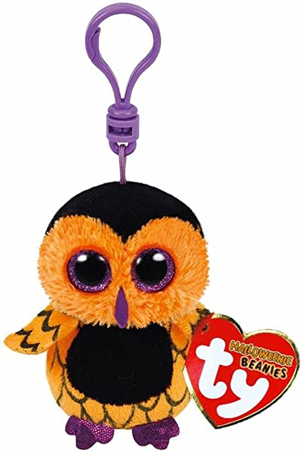"""Ty Beanie Boo Boos 3/"""" Key Clip Fangs the Bat Halloween Exclusive"""
