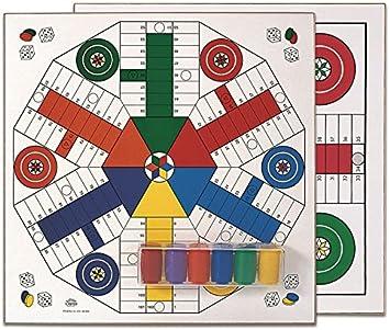 Cayro - Tablero Parchís De Madera con Accesorios para 4 y 6 Jugadores - Juego de Tradicional - Juego de Mesa - Desarrollo de Habilidades cognitivas - Juego de Mesa (T-134/A): Amazon.es: Juguetes y juegos