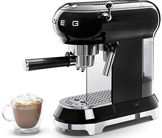 Smeg Espresso Coffee Machine, Black: Amazon.es: Hogar