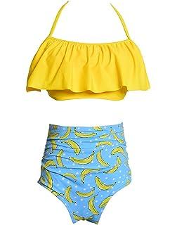 77d0a79d5526 Hibote Mujer Niña Ropa de Baño Bikinis Conjuntos - Trajes de Dos ...