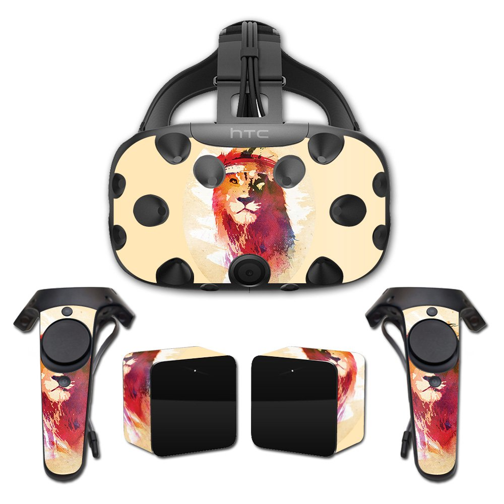 MightySkins Skin For HTC Vive Full Coverage - Gym Lion   Protective, Durable, and Unique Vinyl Decal wrap cover   Easy To Apply, Remove, and Change Styles   Made in the USA