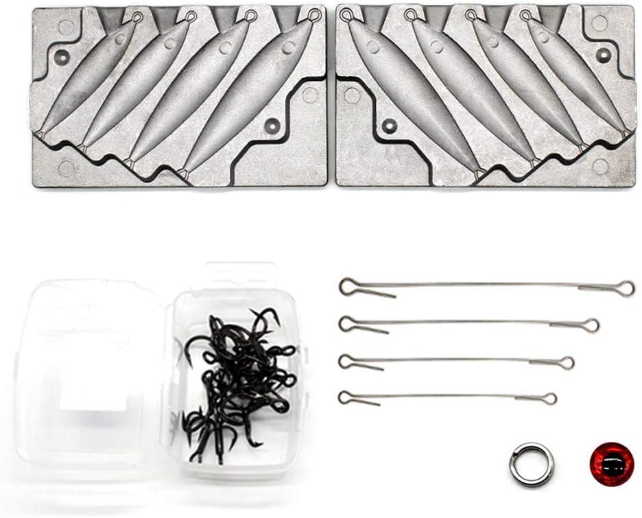 3D eyes Mold Gar Stick Bait Lure Mold Kit Wire inserts