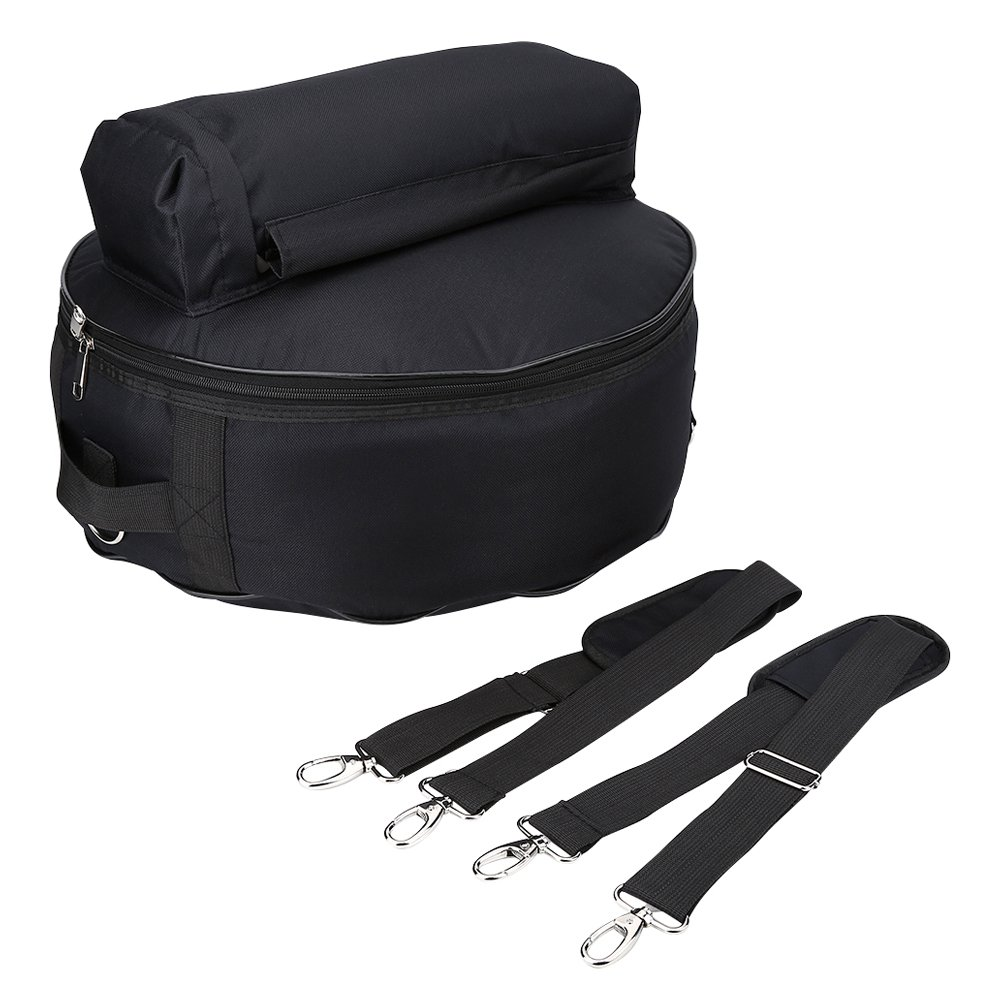 Snare Drum Bag, Portable Oxford Cloth Snare Drum Backpack Waterproof Case with Outside Pockets Detachable Shoulder Straps Dilwe