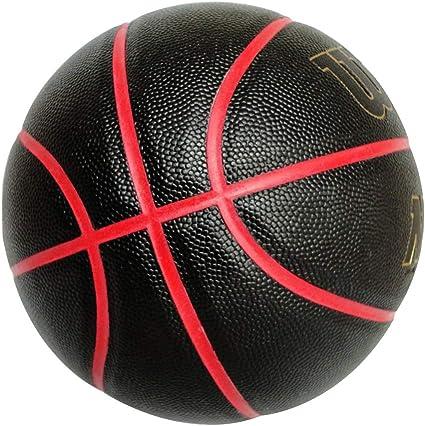 BS-Basket-6 Artículos Deportivos de Baloncesto 7# PU Cuero Suave ...