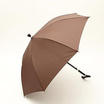 CNBBGJ Super reforzado viejos paraguas bastón paraguas bastón largo palo regalo patinaje montañismo, marrón