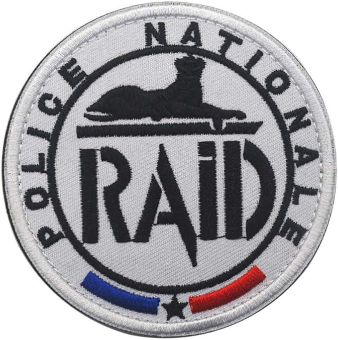 Parche de la Policía Nacional de Francia RAID equipo táctico militar bordado moral bordado insignia insignia para coser en el emblema para camiseta, abrigo, chaqueta, gorro, mochila insignia (Francia): Amazon.es: Hogar