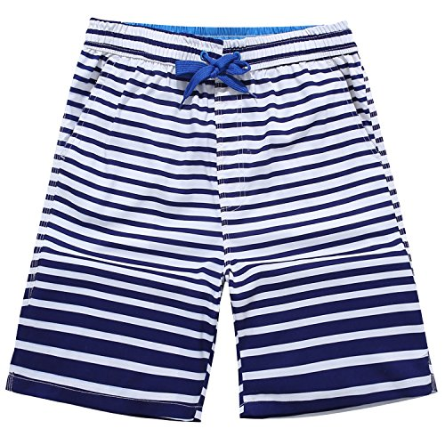 Men's Quick Dry Boardshorts Bathing Suits Swimming Trunks Tropical Volley Beach Shorts, XL(30-31), Sailor