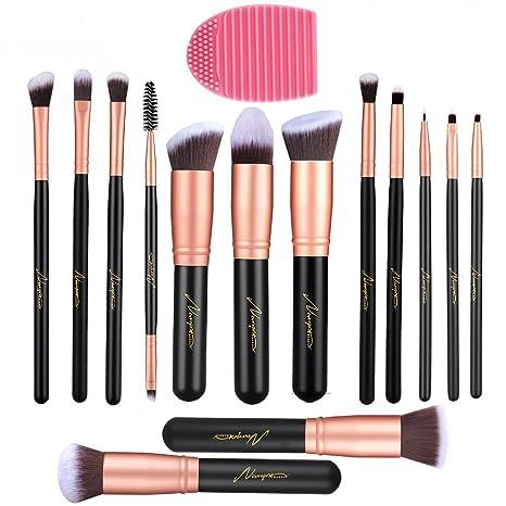 b37753f90 Makeup Brushes 14 Piezas, Conjunto de Brochas Maquillaje, Pincel de Base  Sintético Premium,