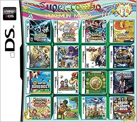 KUAILE 208 en 1 Juego Super Combo Cartucho de Juegos Tarjeta de Tarjeta múltiple para Nintendo DS NDS NDSL NDSi 2DS 3DS