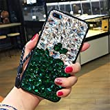 5c cases with gems - Case for iphone 5C,Luxury 3D Handmade Sparkle Stunning Stones Crystal Rhinestone Bling Full Diamond Gemstone Glitter Case for Apple iphone 5C(B White/Green)